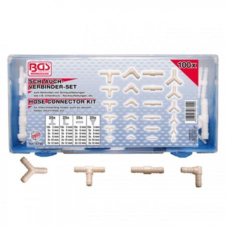 Verbinder-Sortiment für Gummi- und Kunststoffschläuche
