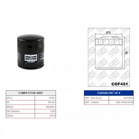 Ölfilter Champion C305 / COF451*