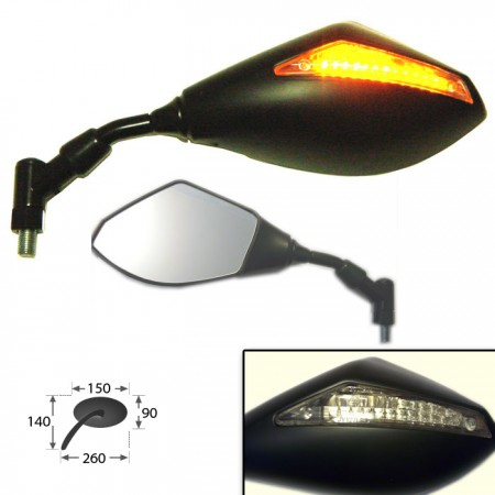 Universalspiegel mit LED-Blinker