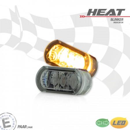 """Paar getönt Bolzen M6 Maße: Ø=30 x T 14 mm LED-Einbaublinkerset /""""Trenta/"""" E"""