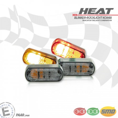 """LED-Einbaublinker-Rücklichtset """"Heat"""""""