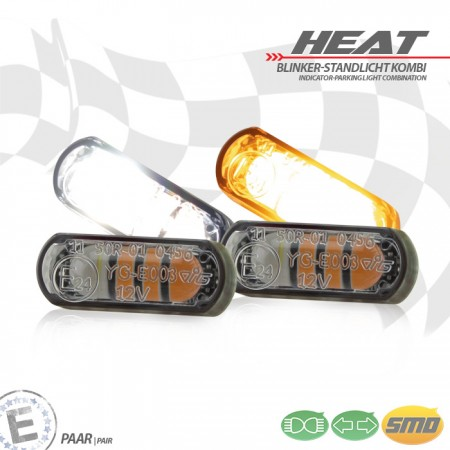 "LED-Einbaublinker-Positionslichtset ""Heat"""