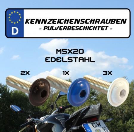 """Nummernschildschrauben-Set """"M5 x 20"""""""