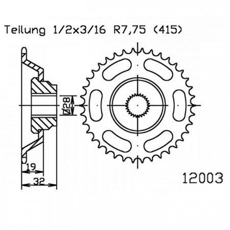 Kettenrad 50-12003-43