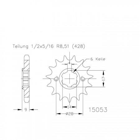 Ritzel 50-15053-13
