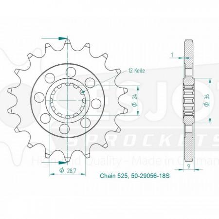 Ritzel 50-29056-18S