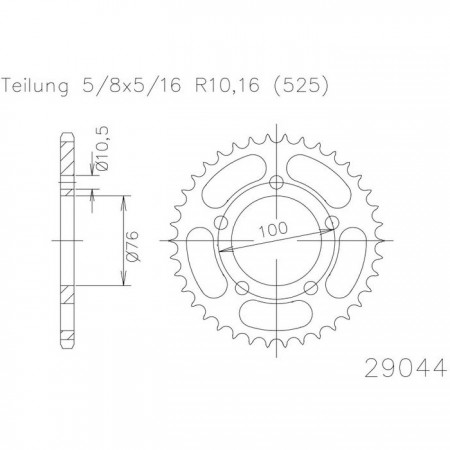 Kettenrad 50-29044-41