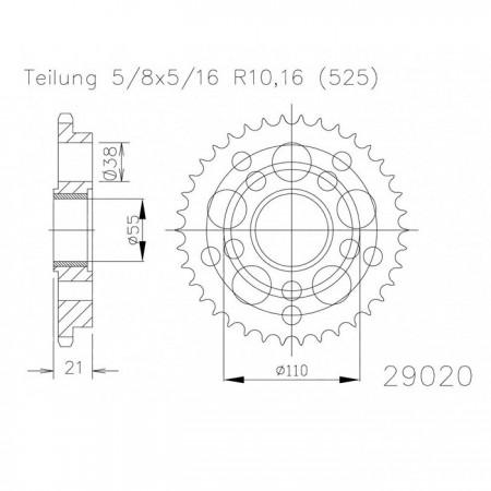 Kettenrad 50-29020-45
