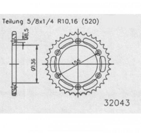 Kettenrad 50-32152-43