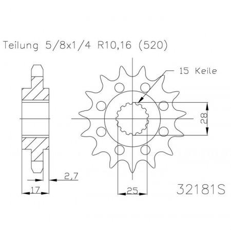 Ritzel 50 - 32181 - 14S
