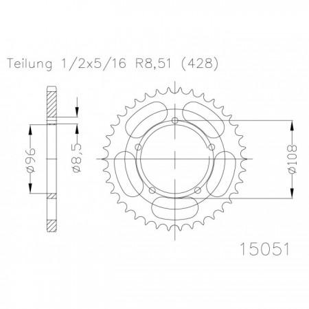 Kettenrad 50-15051-49