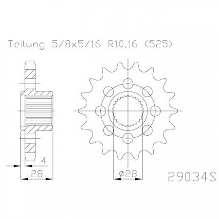 Ritzel 50-29034-18