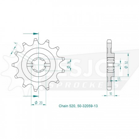Ritzel 50-32059-13
